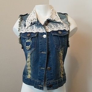 Buzz Jean and Lace Vest